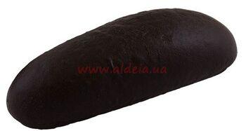 """Багет """"Для хот-дога 70"""" Чорний з надрізом"""